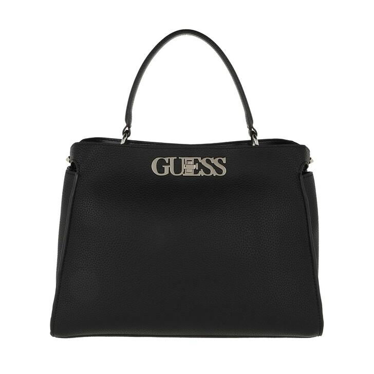 Handtasche, Guess, Uptown Chic Large Satchel Bag Black