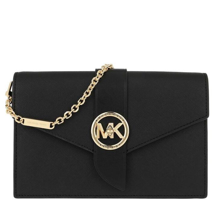 bags, MICHAEL Michael Kors, Charm MD Wallet On Chain Crossbody Bag Black