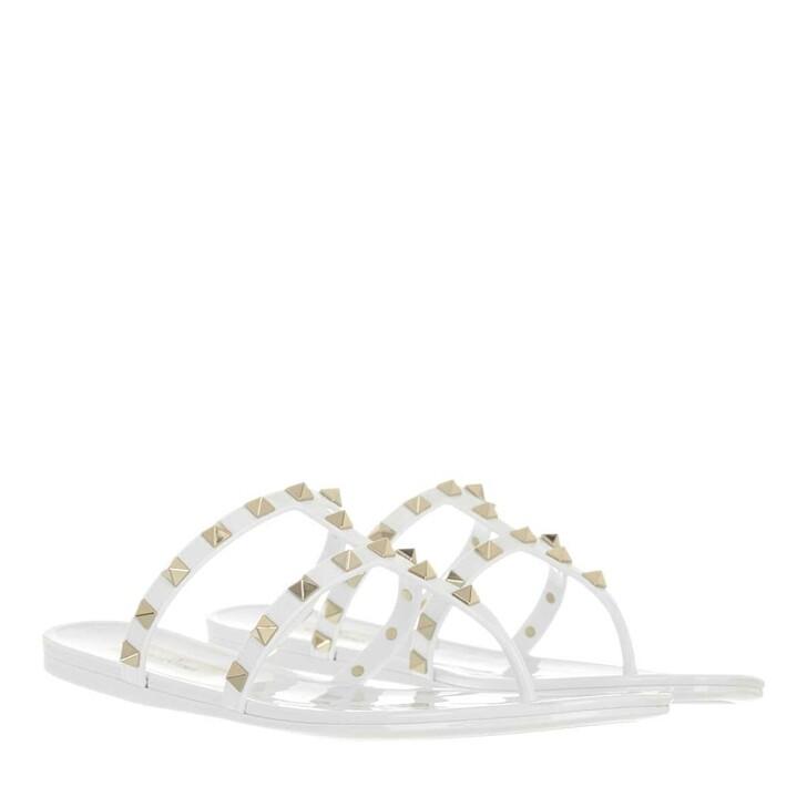 shoes, Valentino Garavani, Rockstud Thong Sandal White