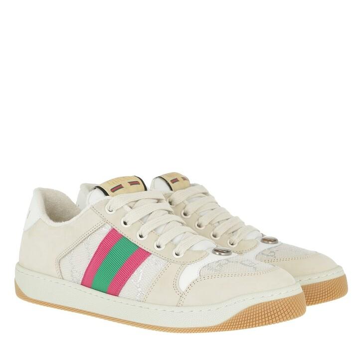 Schuh, Gucci, Screener Sneakers Web Beige/Multi