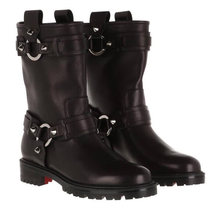 shoes, Christian Louboutin, Bikita Boots Leather Black