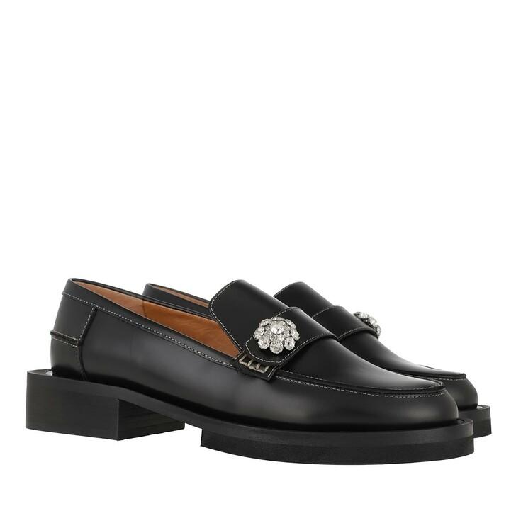 Schuh, GANNI, Moccasin Black