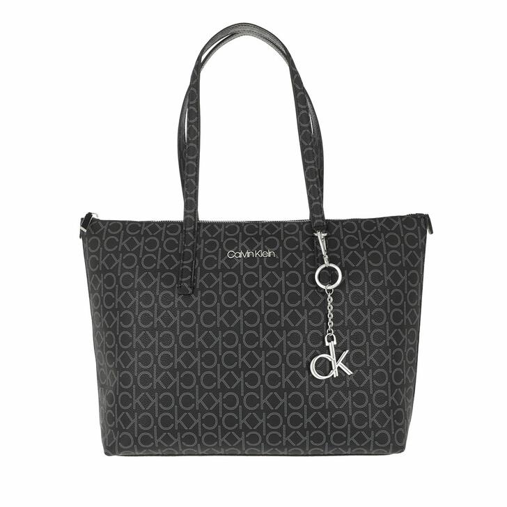 Handtasche, Calvin Klein, Monogramme Medium Shopping Bag Black