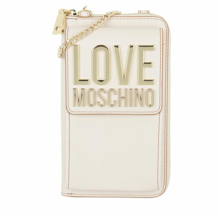 wallets, Love Moschino, Portafogli Bonded Pu  Avorio