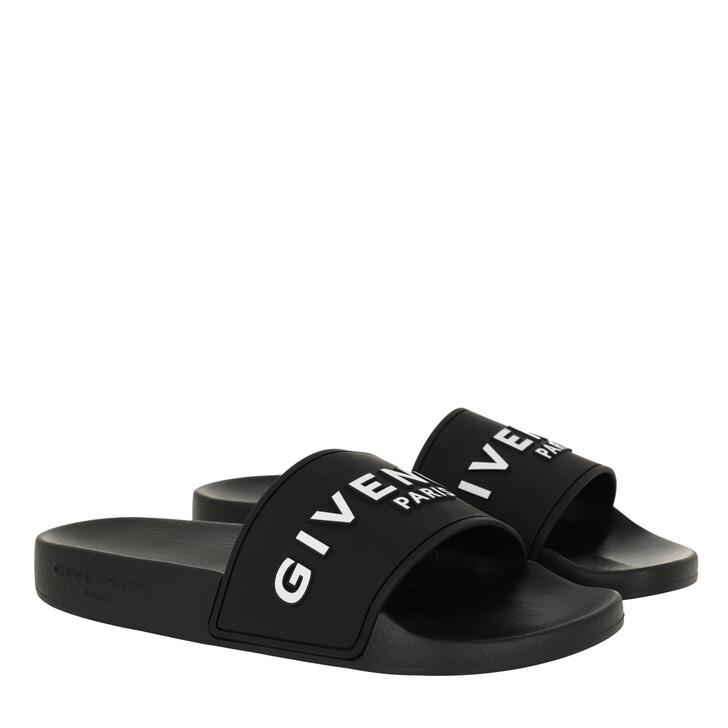 shoes, Givenchy, Rubber Slide Sandals Black