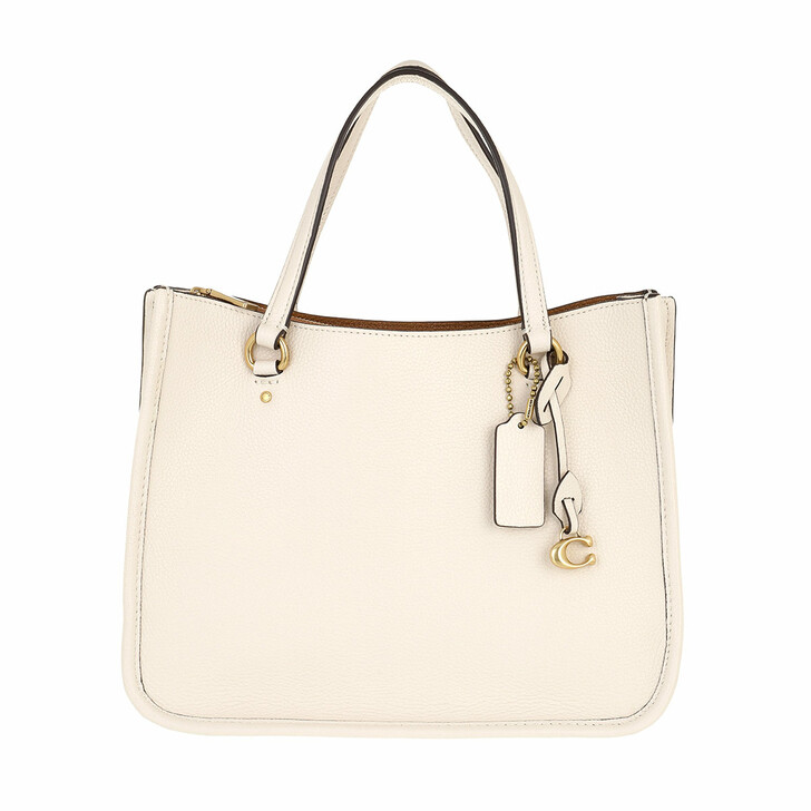 Handtasche, Coach, Polished Pebble Leather Tyler Carryall 28 B4/Chalk