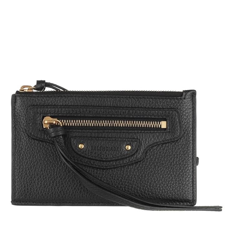 wallets, Balenciaga, Neo Classic Coin and Card Holder Black