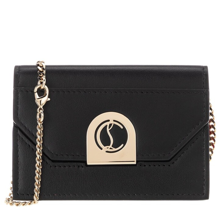Geldbörse, Christian Louboutin, Elisa Chain Card Holder Black/Gold