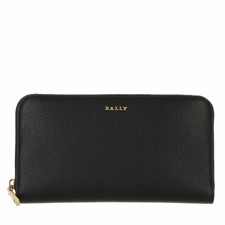 wallets, Bally, Zip Around Wall Lovenor Black