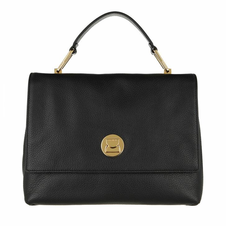 bags, Coccinelle, Handbag Grainy Leather Noir/Noir