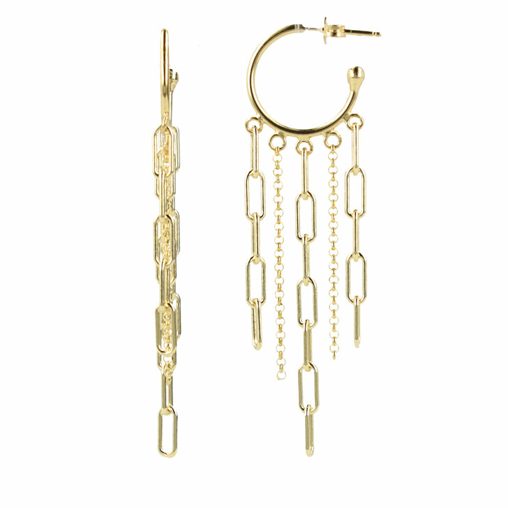 Ohrring, LOTT.gioielli, Classic Earring Closed Forever Extra Small Gold