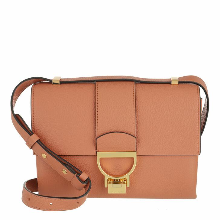 bags, Coccinelle, Handbag Grainy Leather Chestnut