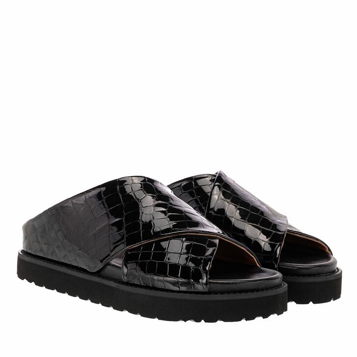 Schuh, GANNI, Mid Crossover Sandal Black