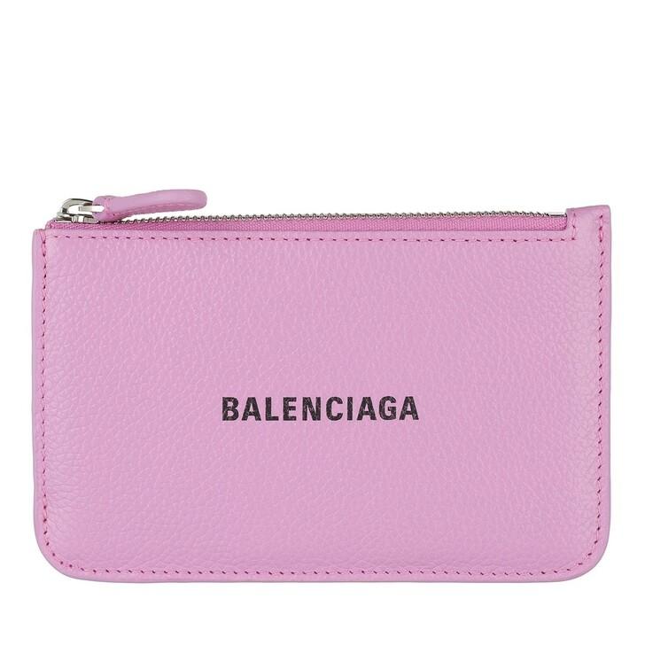 wallets, Balenciaga, Large Cash and Coin Holder Lilac/Black
