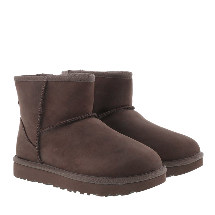 Schuh, UGG, W Classic Mini Leather Chocolate