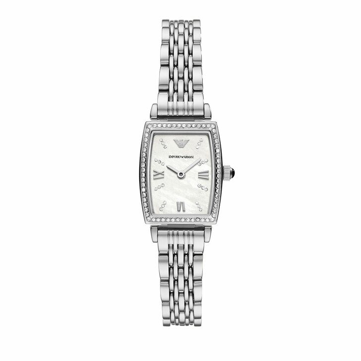 watches, Emporio Armani, Women's Two-Hand Stainless Steel Watch AR11405 Silver