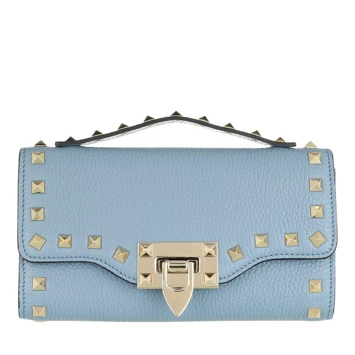 Geldbörse, Valentino Garavani, Rockstud Wallet On Chain Niagara Blue