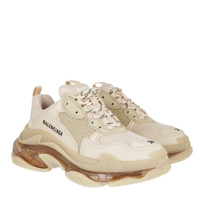 Schuh, Balenciaga, Triple S Clear Sole Sneakers Nude