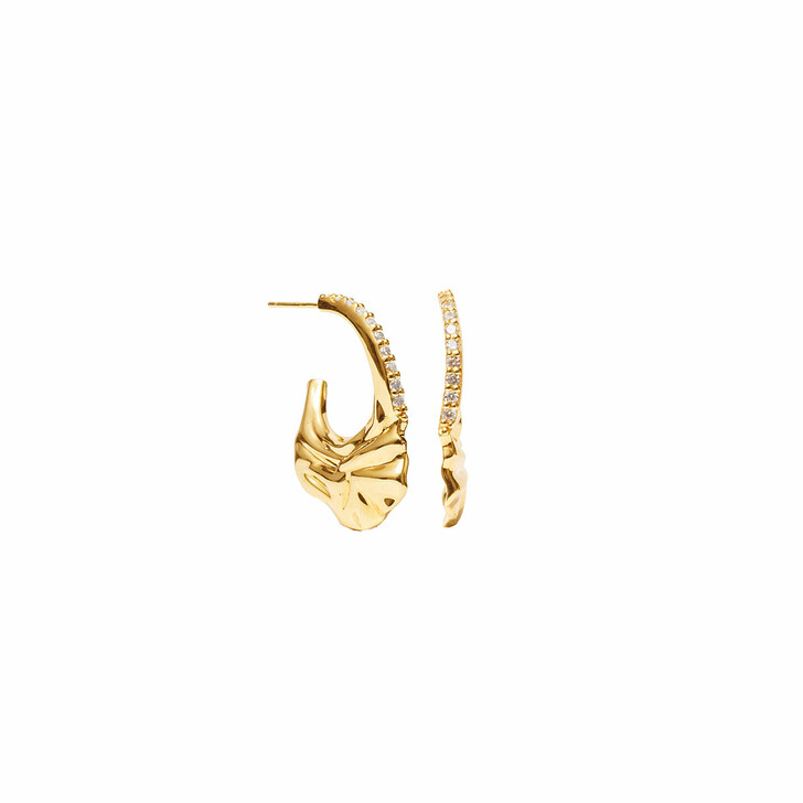Ohrring, Sif Jakobs Jewellery, Vulcanello Creole Earrings Yellow Gold