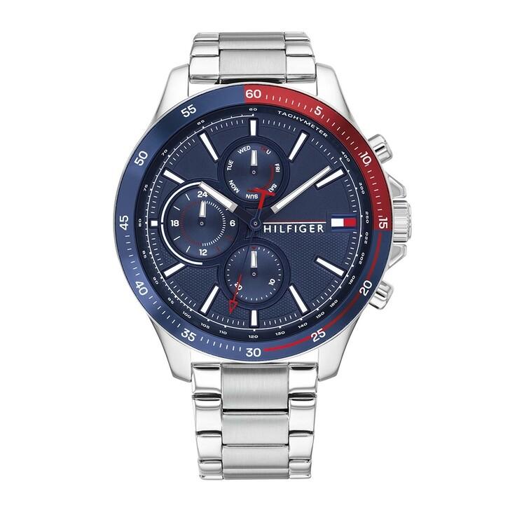 Uhr, Tommy Hilfiger, Men Multifunctional Watch Bank Silver