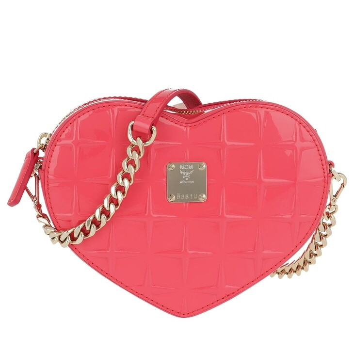 Handtasche, MCM, Patricia Diamond Patent Crossbody Bag Tea Berry