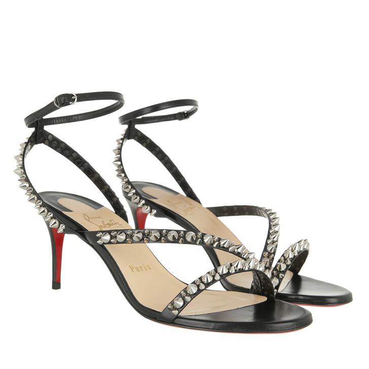 Schuh, Christian Louboutin, Mafaldina Spike Sandals Black/Silver