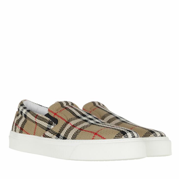 shoes, Burberry, Patterned Sneakers Archive Beige