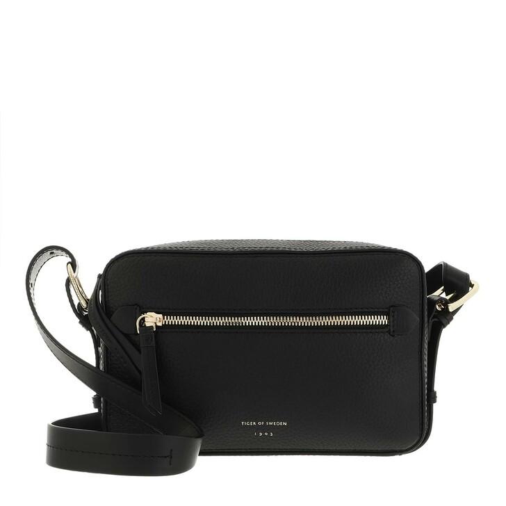 bags, Tiger of Sweden, Kiva Small Leather Handbag Black