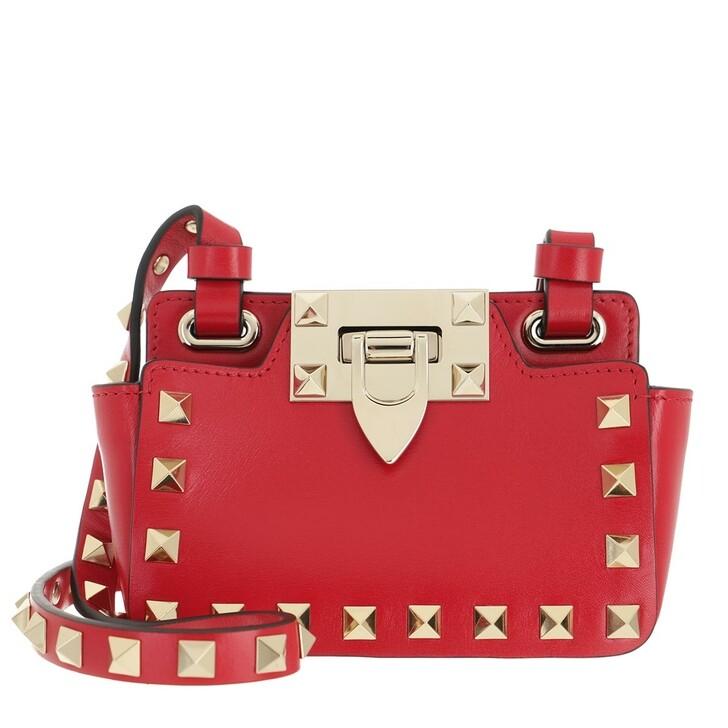 bags, Valentino Garavani, Rockstud Mini Bag Leather Rouge Pur
