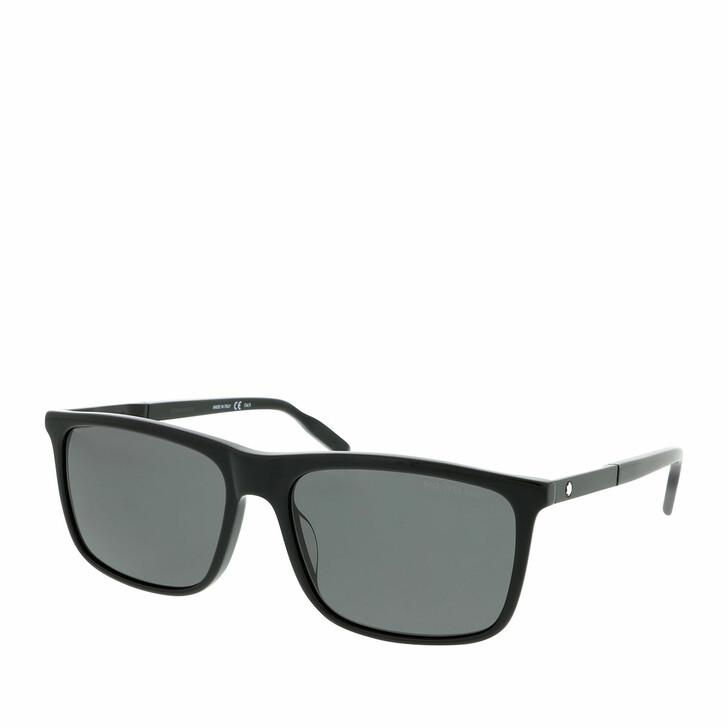 Sonnenbrille, Montblanc, MB0116S-001 58 Sunglass MAN ACETATE Black