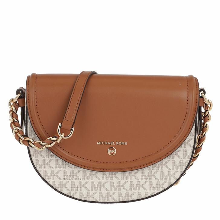 Handtasche, MICHAEL Michael Kors, Medium Hlf Dome Chn  Vanilla/Acrn