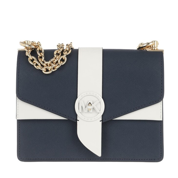 Handtasche, MICHAEL Michael Kors, Small Conv Xbody Handbag  Leather Navy/Optwht
