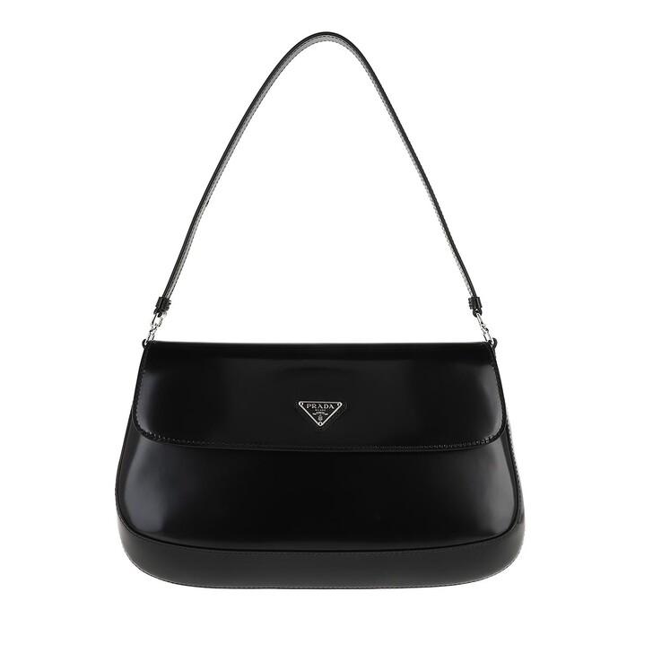 Handtasche, Prada, Cleo Shoulder Bag Brushed Leather Black