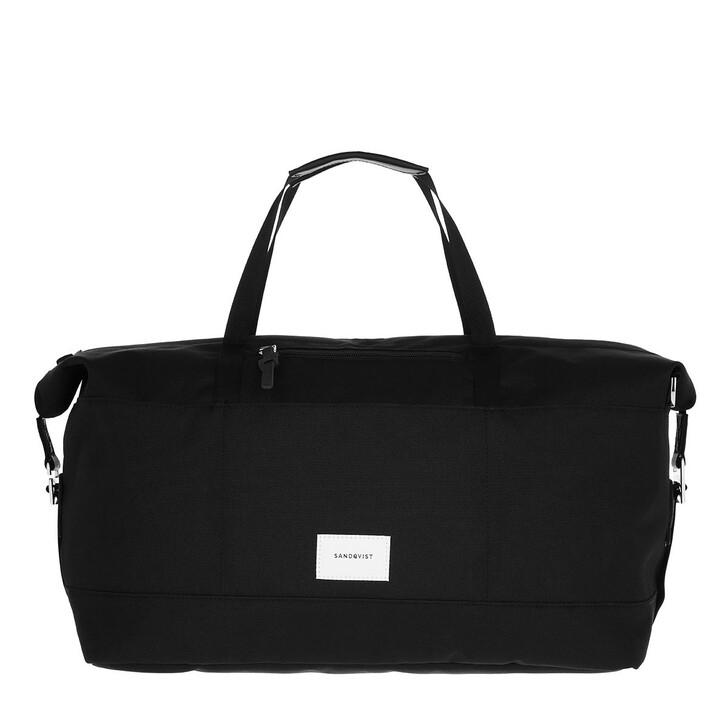 Handtasche, Sandqvist, Milton Travel Bag Leather Black