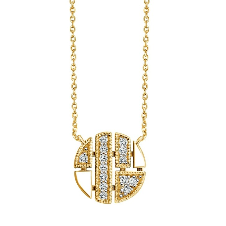 necklaces, Pukka Berlin, Round Necklace Yellow Gold