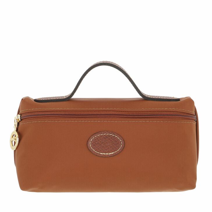 bags, Longchamp, Le Pliage Original Pochette  Cognac