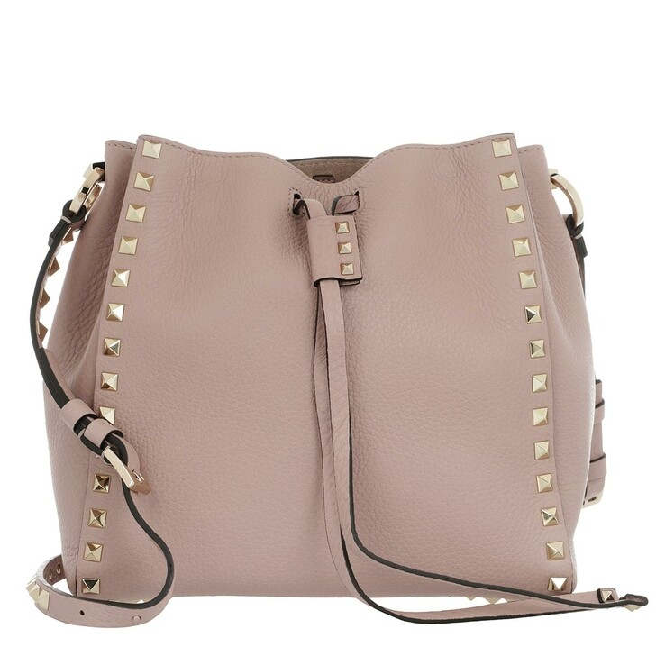 Handtasche, Valentino, Spike Small Shoulder Bag Leather Poudre