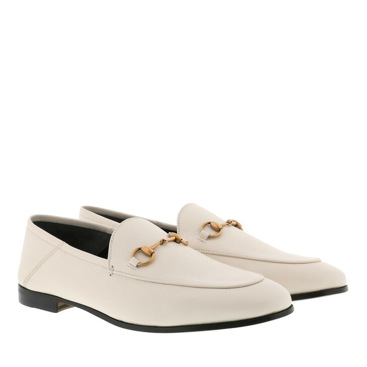 Schuh, Gucci, Brixton Horsebit Loafer Leather Mystic White