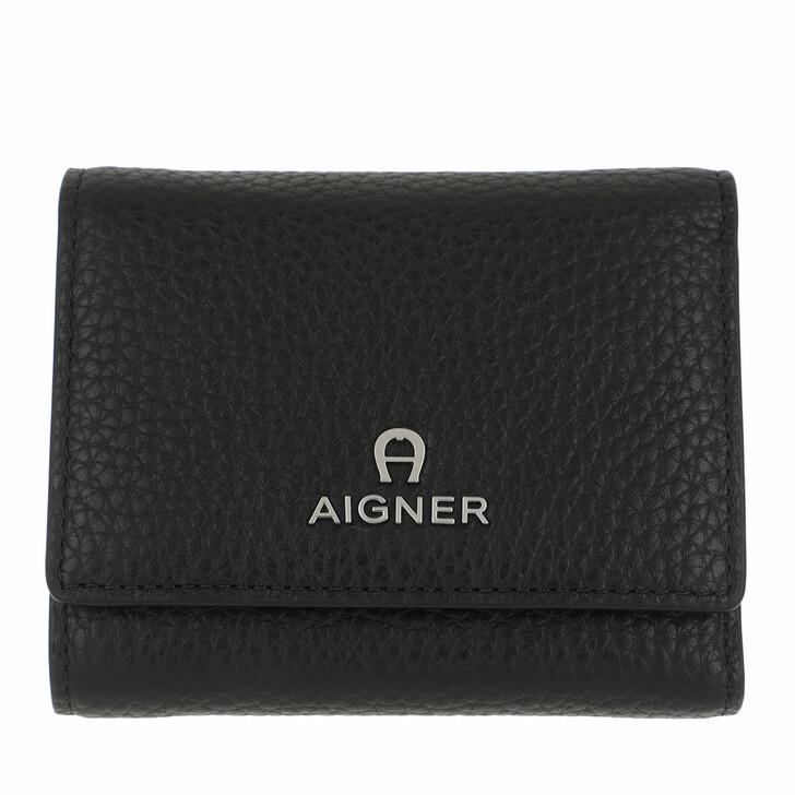 wallets, AIGNER, Ivy Wallet Black