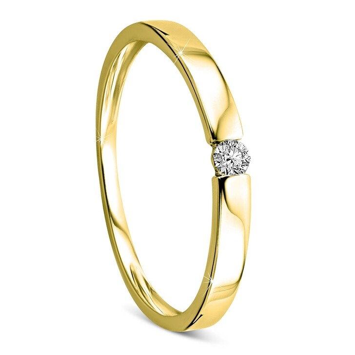 Ring, DIAMADA, 14KT 0.05ct Diamond Solitaire Ring Yellow Gold