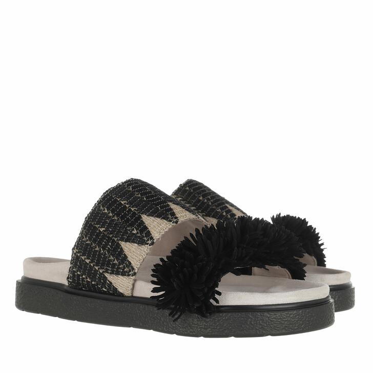 Schuh, INUIKII, Raffia Sandals Black