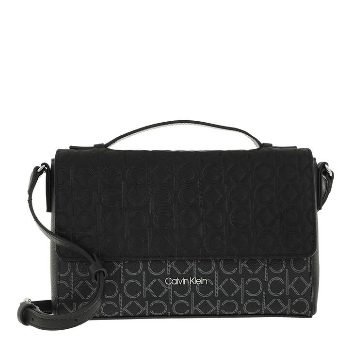 bags, Calvin Klein, Mono Mix Shoulder Bag Black Mono