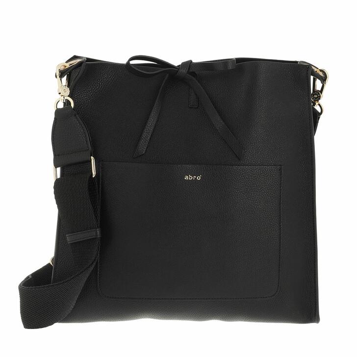 bags, Abro, Crossbody Bag RAQUEL big  Black/Gold