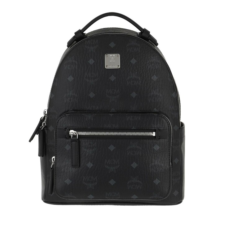 Reisetasche, MCM, Stark Visetos Backpack Small  Black