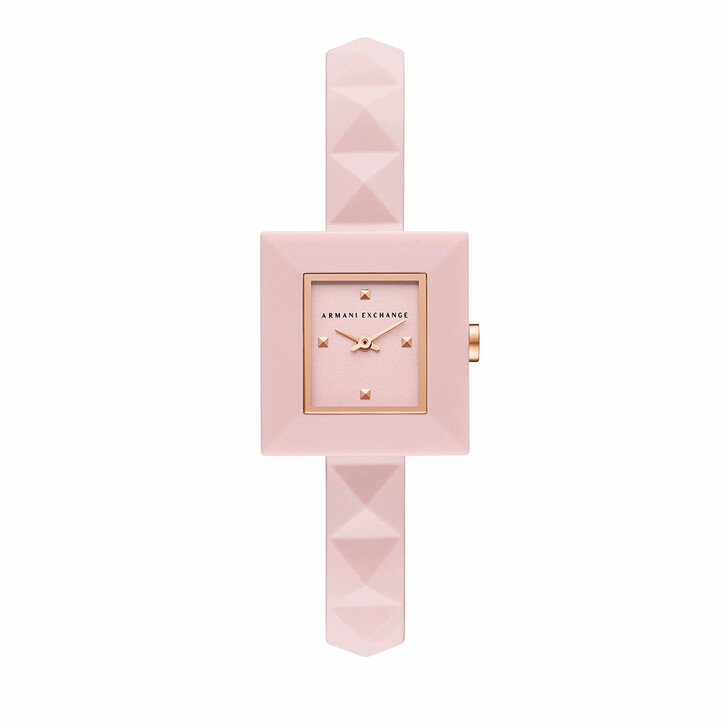 watches, Armani Exchange, Two-Hand Silicone Watch Pink/Rose