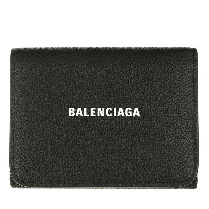 wallets, Balenciaga, Cash Compact Wallet Black/White
