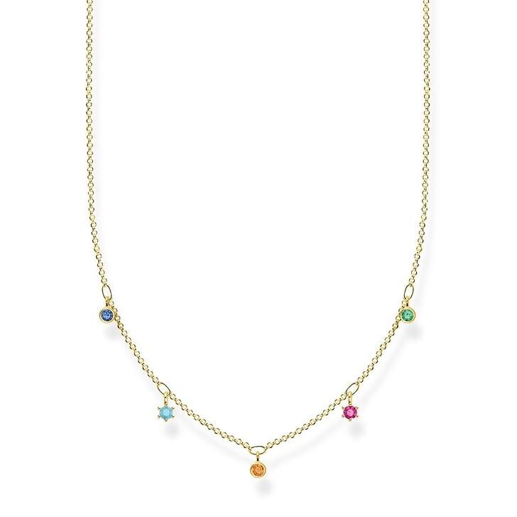 Kette, Thomas Sabo, Necklace Colored Stones Bicolor
