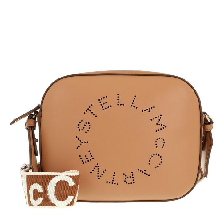 Handtasche, Stella McCartney, Mini Camera Bag Camel