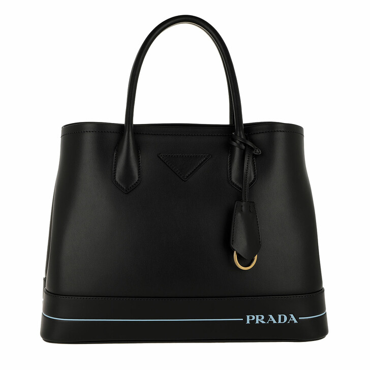 Handtasche, Prada, Two Tone Handle Tote Leather Black
