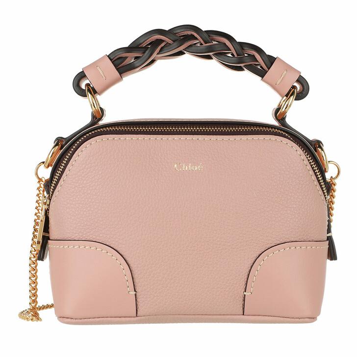 bags, Chloé, Mini Daria Chain Crossbody Bag Leather Misty Rose